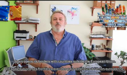 L'Espagne ouvre ses frontières avec des pays extérieurs à l'Union européenne.
